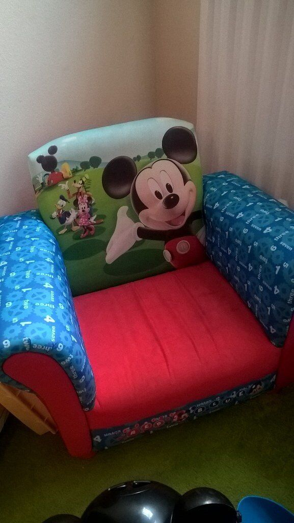 kids mickey mouse arm chair