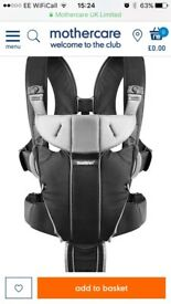 Bjorn miracle baby carrier and fleece cover