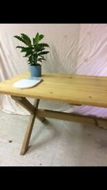 Lovely pine wooden dining/ kitchen table