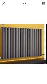 Anthracite single panel 100by650 designer radiator