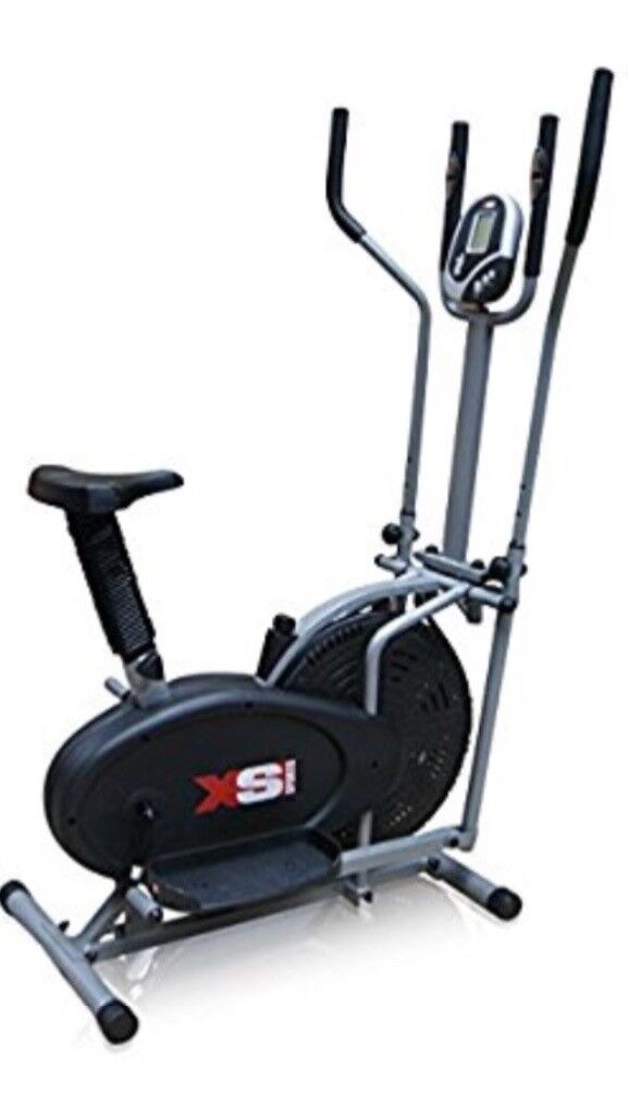 Lightweight dual cross trainer and exercise bike. Excellent condition, hardly used