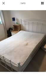 Beautiful shabby chic double metal bed