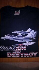US Air Force F-14 T-Shirt Size L