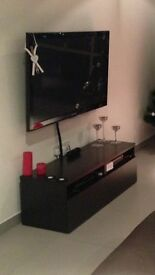 Black/brown ikea Tv stand/table