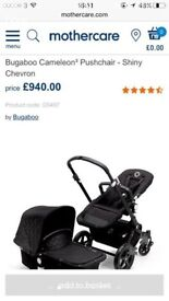 Bugaboo cameleon 3 limited edition shinny chevron and extras