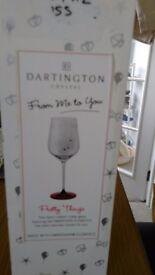 Darlington Crystal Wine ornamental goblet. Ideal pressie for lady at Valentine or birthday.