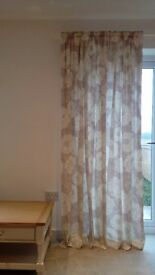 LAURA ASHLEY FULLY LINED READY MADE CURTAINS 220CMS X 220CMS - ONLY £20