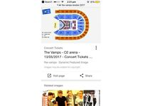 2x The Vamps Tickets (13/5/17 London O2 Arena)