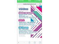 X2 Friday Wireless Tickets