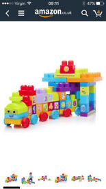 Mega Bloks First Builders Learning Train and Big Building bag