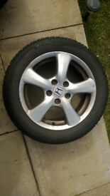 3 ALLOY WHEELS FOR SALE SIZE 16 USED FOR HONDA ACCORD MK 7 FOR QUICK SALE