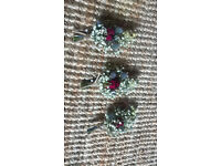 Rustic Winter Dried Flower Buttonholes Set of 3