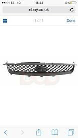 FIESTA MK6 2005 - 2008 FRONT TOP RADIATOR GRILLE BRAND NEW BLACK NO CHROME