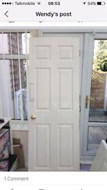 3 white painted doors £12 each