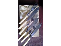Set of 3 fish knives and forks
