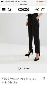 Black peg trousers BNWT