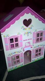 Hello Kitty Dolls House with contents