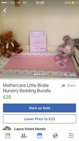 Girls nursery bedding