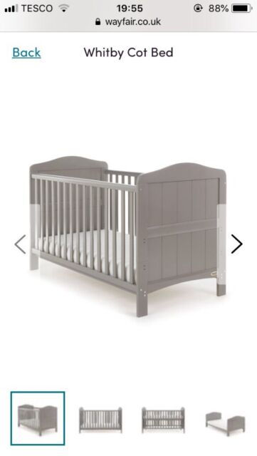new style 2142b a8a0d Wayfair Whitby Cot Bed - Grey | in Chipping Sodbury, Bristol | Gumtree