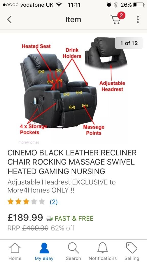 Cinemo 9in1 leather recliner chair