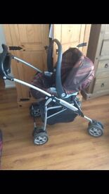 Mamas papas isofix set , (buggy, car seat , isofix base )