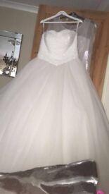 Beautiful corset back wedding dress