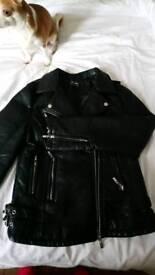 Ladies PU Black biker jacket (M)
