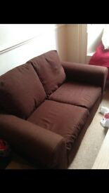2 Seat Brown Sofa free. Can fit in most cars. Near perfect condition. Need to go by Tuesday night.