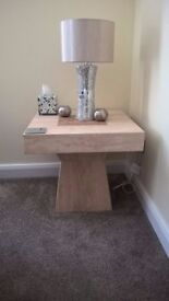 MARBLE LAMP SIDE TABLE