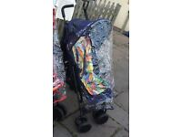 Mothercare Nanu+ Lightweight portable buggy navy blue