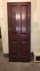 Dark stained door