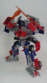 Optimus prime and jet fire transformer