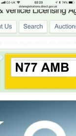 N77 AMB private registration