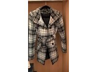 Ladies Size 10 Jane Norman Tweed Style Belted Coat