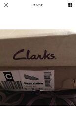 Ladies Clark slip on shoes size 5 bnwt