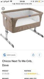 chicco next to me crib