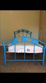 Boys blue single bed excellent condition