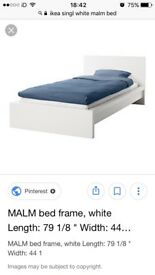 Single malm Ikea bed