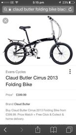 Claud Butler fold up bike.