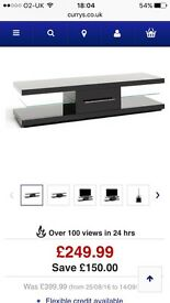 Black gloss tv unit, no scratches or marks, only had for few months.