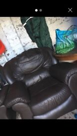 2 x Brown Armchairs - fab condition