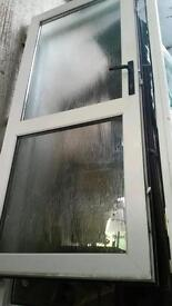 Double glazed frosted pvc door