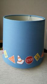 Blue lampshade/childs