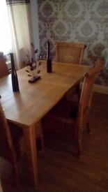 Oak table n chairs