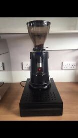 Electronic coffee grinder and knock box for sale