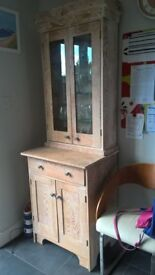 Hand crafted reclaimed pine and glass dresser