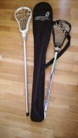 Lacrosse Sticks and Bag