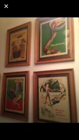 Vintage pictures original adverts 50s 60s set of 12