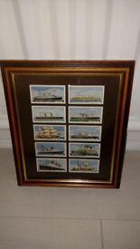 10 framed Richard Lloyd & Sons cigarette cards. Atlantic Records series.