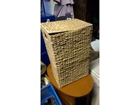 Small woven laundry basket